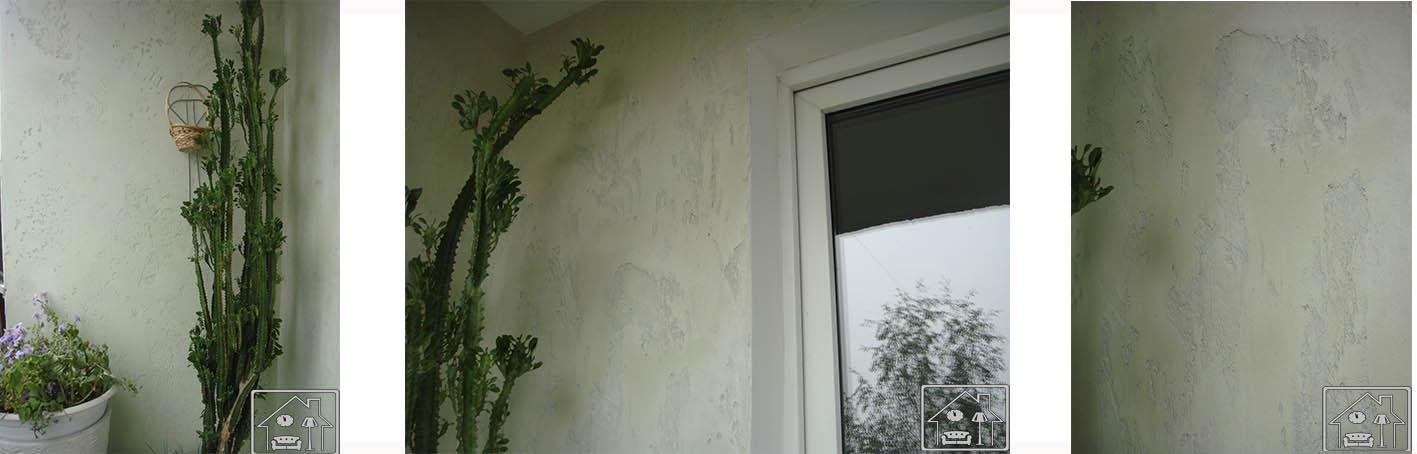 Балкон -декор штукатурка