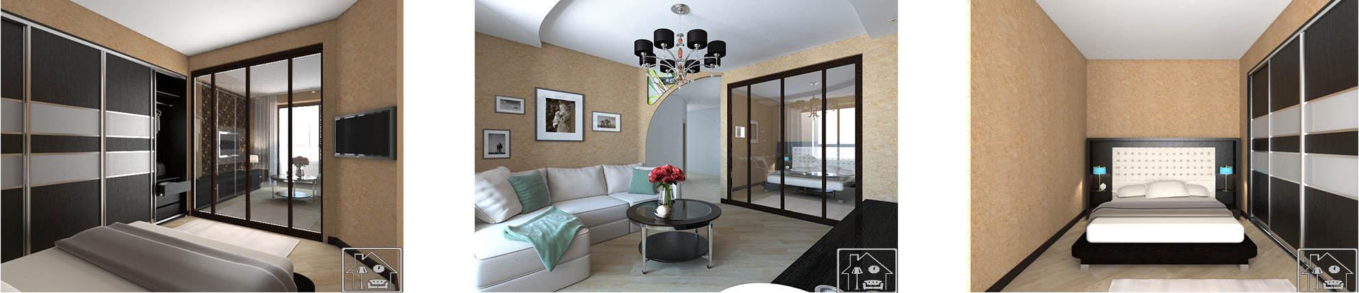 Гостиная-современ общ с спальной зоной