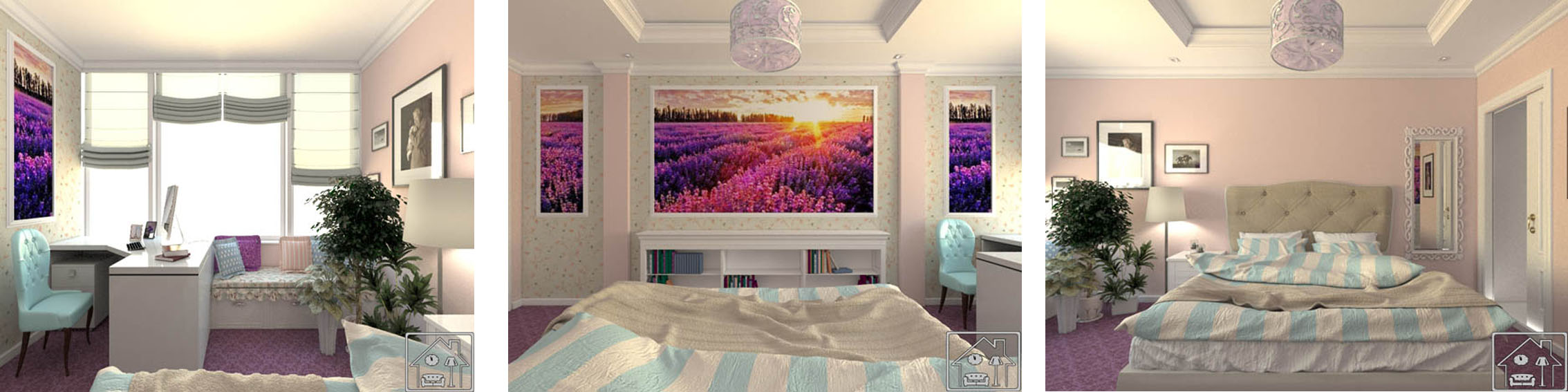 Комната девушки_в современном классическом стиле 6 ч 2