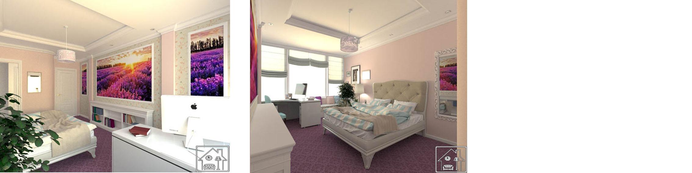 Комната девушки_в современном классическом стиле 6