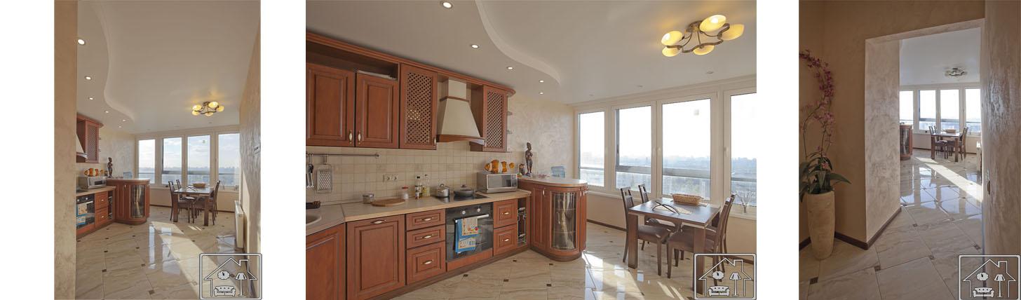Кухня в современном классическом стиль_светлые тона