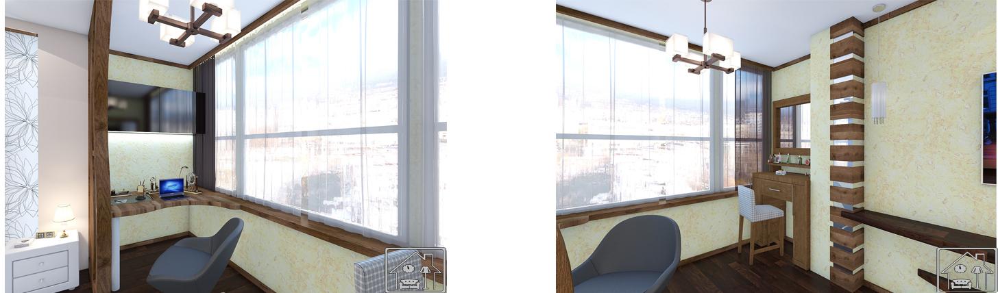 Рабочее место на балконе -Кабинет