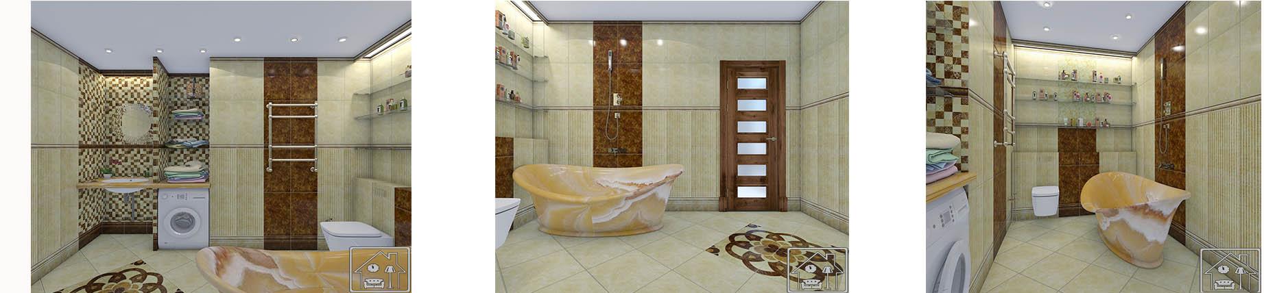 Санузел светлая отдельная ванная