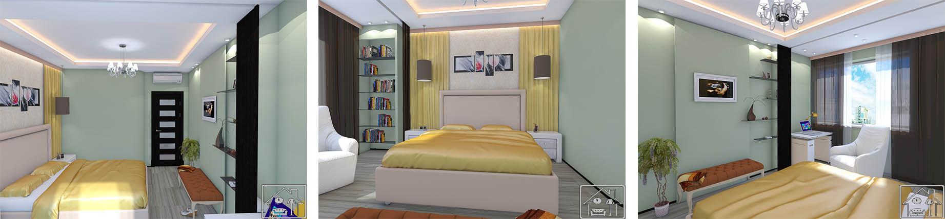 Спальня современная Салатовая
