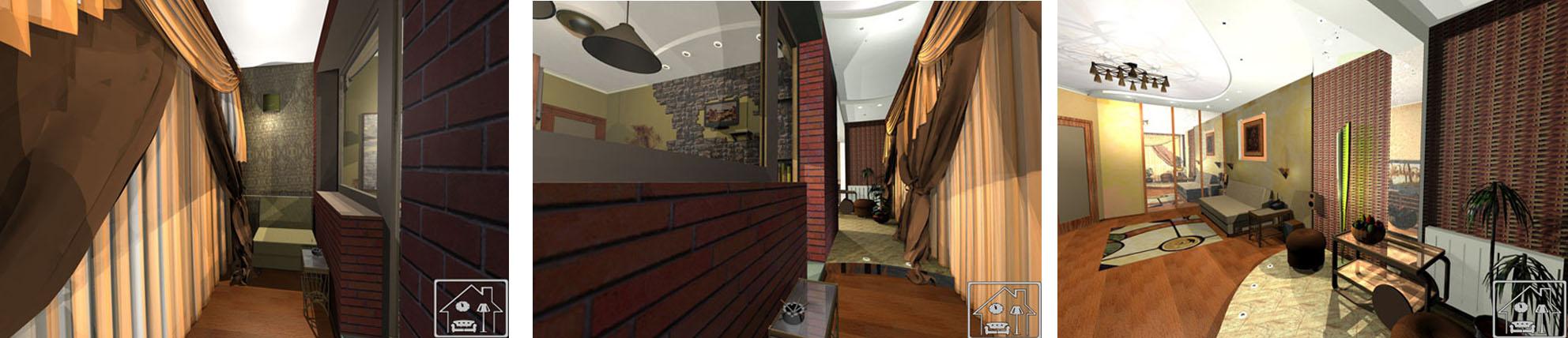 гостиная с зоной отдыха на балконе 2
