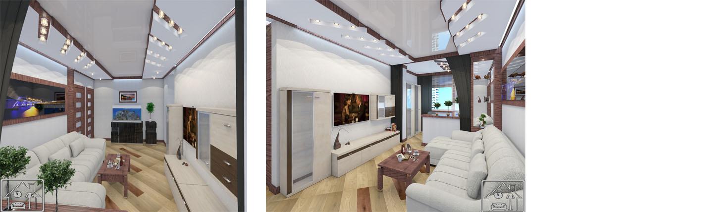гостиная с кабинетом на балконе ч 2