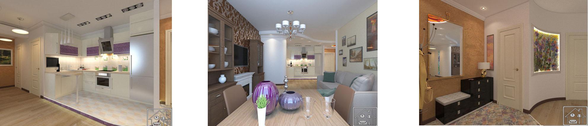 гостиная с кухней 1